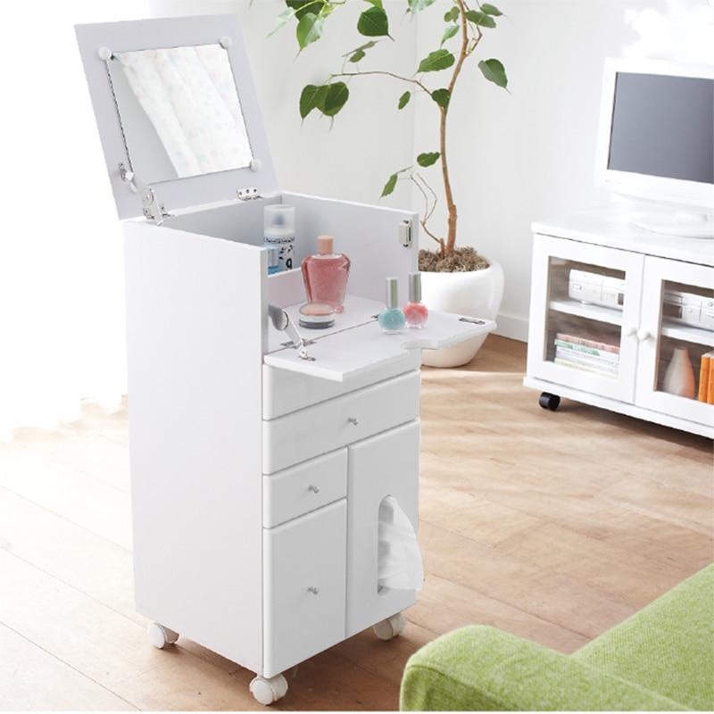 muebles de madera maciza espejo de maquillaje sencillo mini tocador de