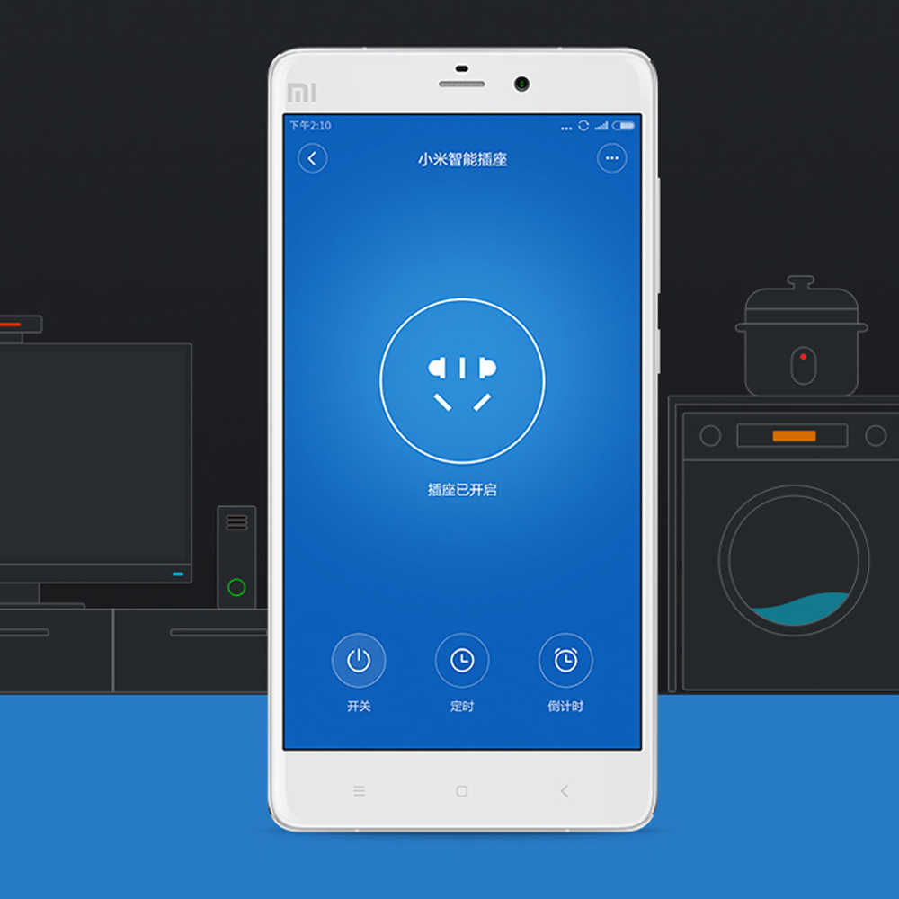100% המקורי Xiaomi חכם שקע תקע בסיסית WiFi אלחוטי מרחוק שקע מתאם כוח לסירוגין עם טלפון