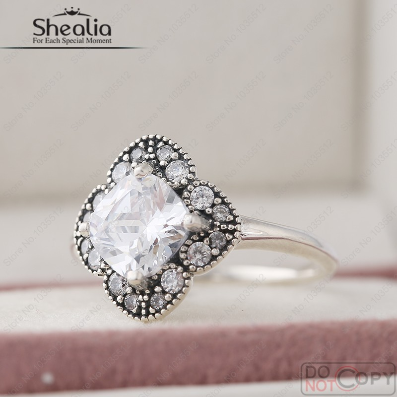 1a336baf6 Shealia Jewelry Crystal Floral Fancy Ring With Cz Autumn 925 ...