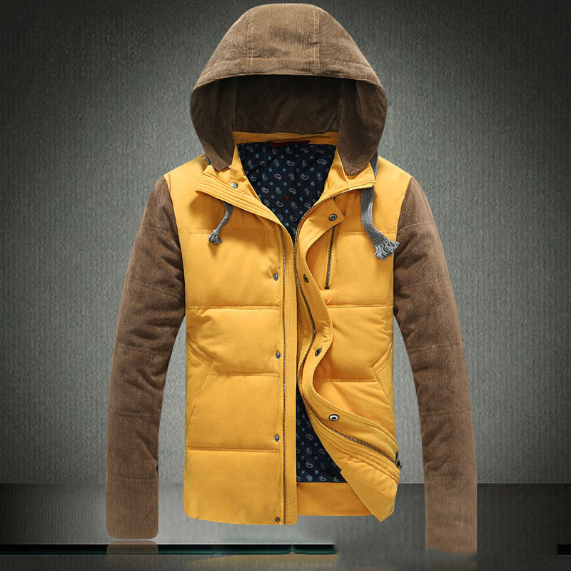 New men\'s stand collar Down jacket thick Warm Loos...
