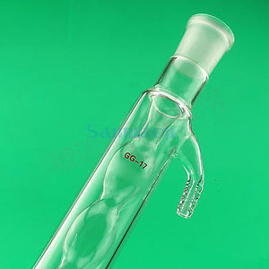 Image 1 - 400mm 19/26 wspólne Allihn szklane skraplacze gniazdo żarówki destylacja szkło laboratoryjne