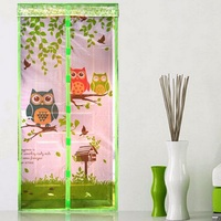 Hot Mosquito Magnetic Soft Stripe Window Screen Door Summer Owl Anti-mosquito Curtains Insect Fly Bug Mosquito Net On the Door