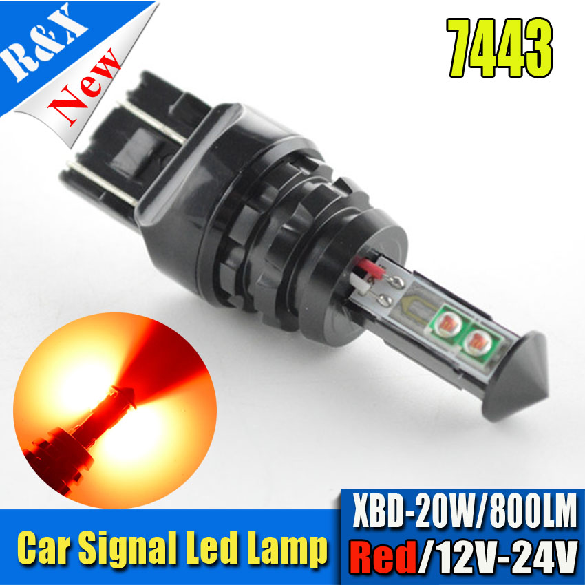 2pcs t20 w21/5w 7443 7440 20W Led CANBUS car Fog lights Daytime Running Bulb auto Lamp p ...