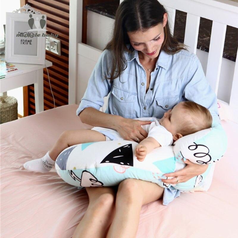 Coussin d'allaitement nouveau-né bébé chambre allaitement Protection de la tête réglable mère alimentation berceau bâclée oreillers décor 68*56*20 cm