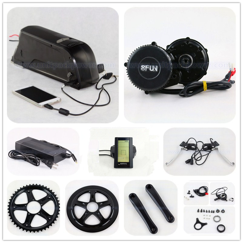 цена на Bafang BBS02 48V 750W ebike motor 8Fun mid drive electric bike conversion kit with 48v 11.6ah li ion battery