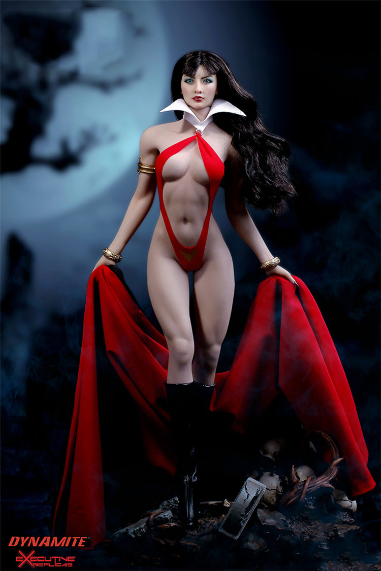 In Stock 1/6th TBLeague Scale Vampirella Asian Version Action Figure Colletible Model Toys With Seamless Body