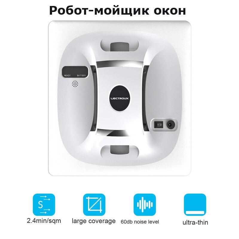 Liectroux X6 Automatische Fenster Vakuum Reinigung Roboter, intelligente Washer, Fernbedienung, anti herbst UPS Algorithmus Glas Reiniger Werkzeug