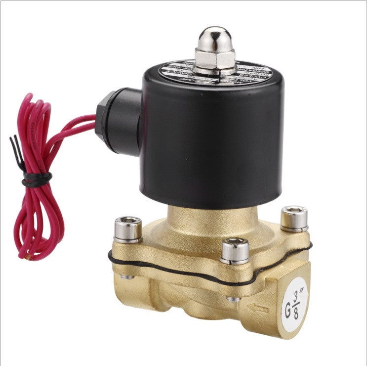 2 inch  Solenoid Valve water Brass 2 Way Valve Oil Gas Valves DC12V DC24V AC110V or AC220V 2W500-50 1 2 built side inlet floating ball valve automatic water level control valve for water tank f water tank water tower