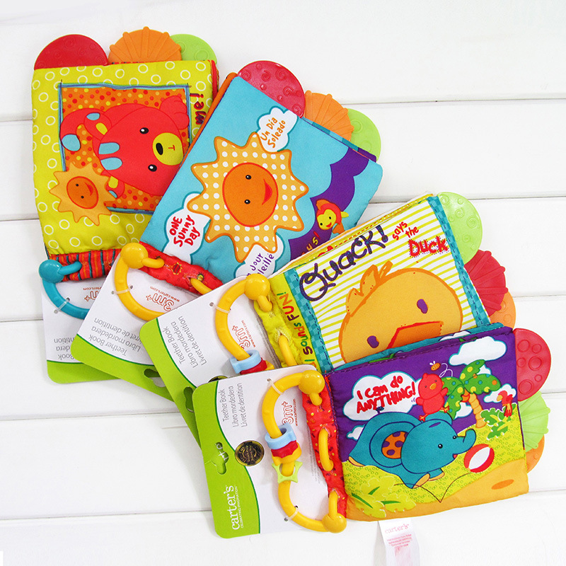 Kid Toys Baby Soft Cloth Book Educational Learing 0-24 Months Colorful Rattles Sound Cute Animal Books Children Gift Paper Teeth