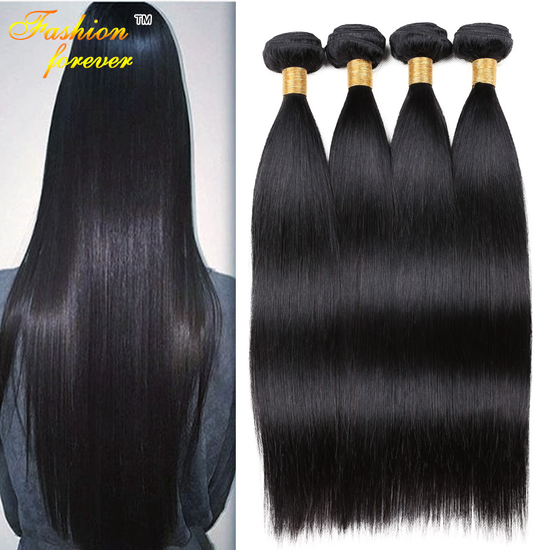Indian Straight Virgin Hair 4 Bundle Deals 7A Raw Indian Virgin Hair ...