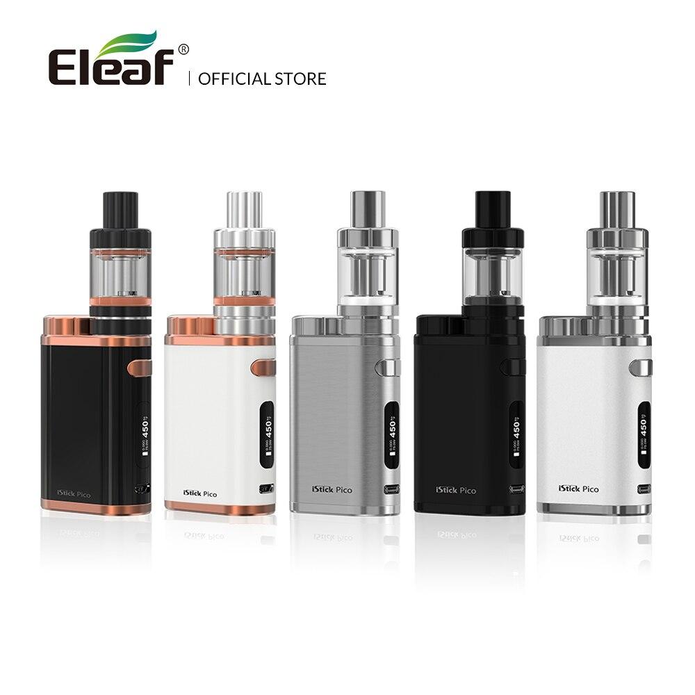 Almacén Original Eleaf iStick Pico Kit con MELO III Mini atomizador 1-75 W 2 ml 4 ml melo tanque 3 Vape CE la cabeza E-cigarrillo