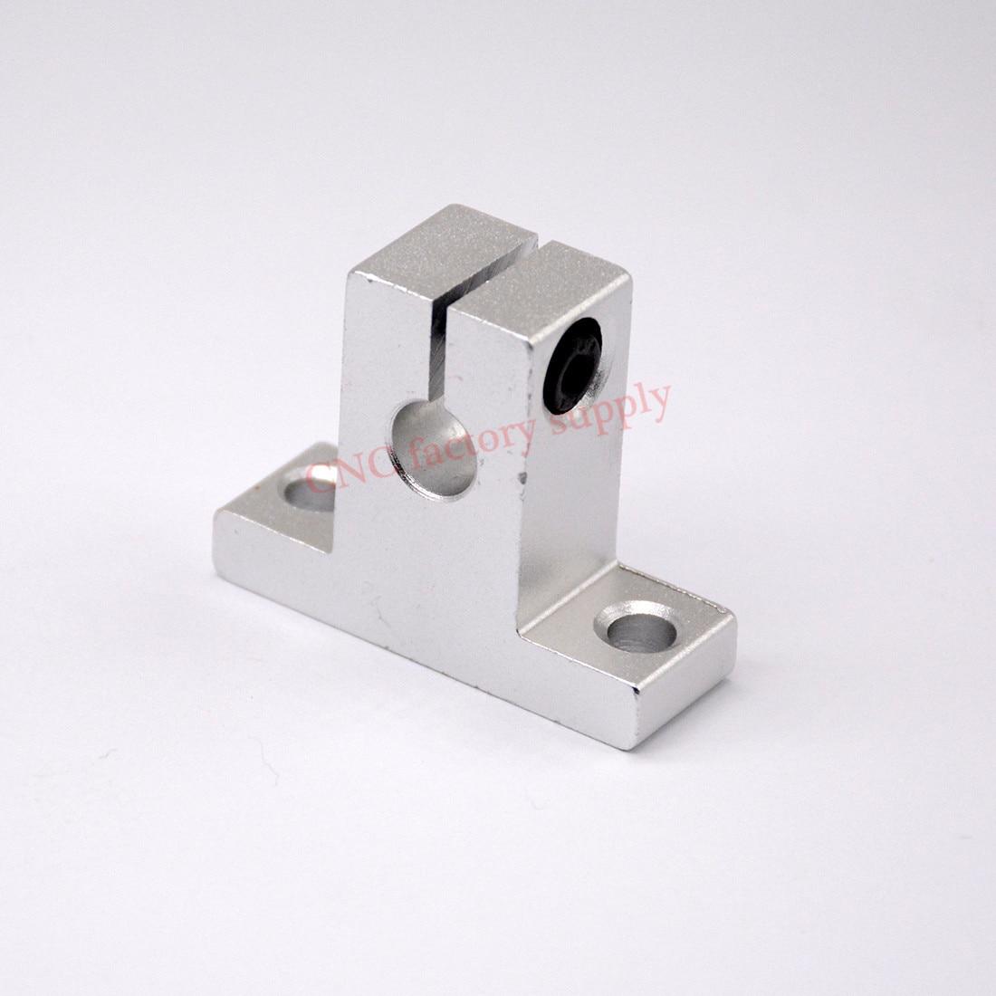 10pcs/lot Free Shipping SK10 10mm linear bearing rail shaft support XYZ Table CNC Router SH10A стоимость