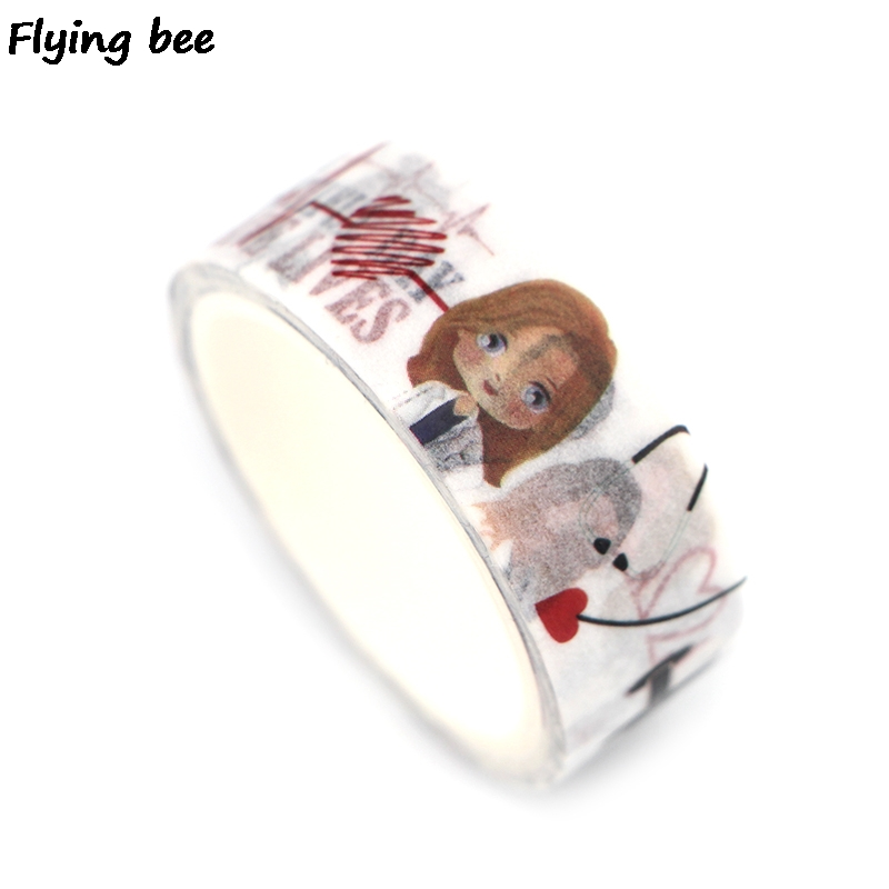 Flyingbee 15mmX5m Paper Washi Tape Grey 39 s Anatomy Fashion Adhesive Tape DIY Scrapbooking Sticker Label Masking Tape X0347 in Office Adhesive Tape from Office amp School Supplies