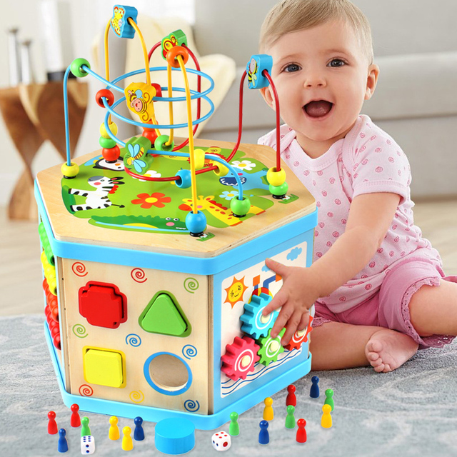 Los niños de múltiples funciones de seis kit de grano redondo grande de lujo con cuentas de inteligencia juguete