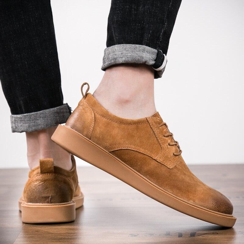 Pour Véritable Noir La 38 Noir 5 Occasionnels Plus Hommes gris Taille orange Mode Respirant Lace De 44 Up Chaussures Cuir xCvfWwRq