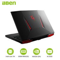 Bben Laptop Computer 16G RAM 256G SSD 2TB HDD Windows10 System 17 3 Nvidia GTX1060 6GB