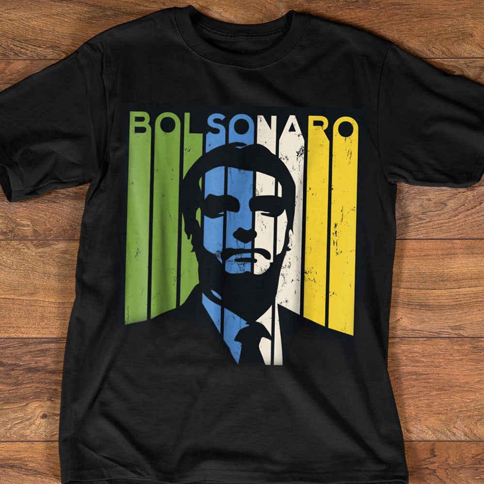 Jair Bolsonaro Presidente 2018 ブラジルシャツ黒の綿の男性シャツサイズ M-3XL 白黒 tシャツスーツ帽子ピンク tシャツクラシック