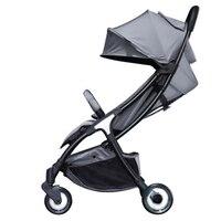 Легкие детские коляски 2 в 1 Алюминиевый сплав может быть на плоскости складной детской коляски
