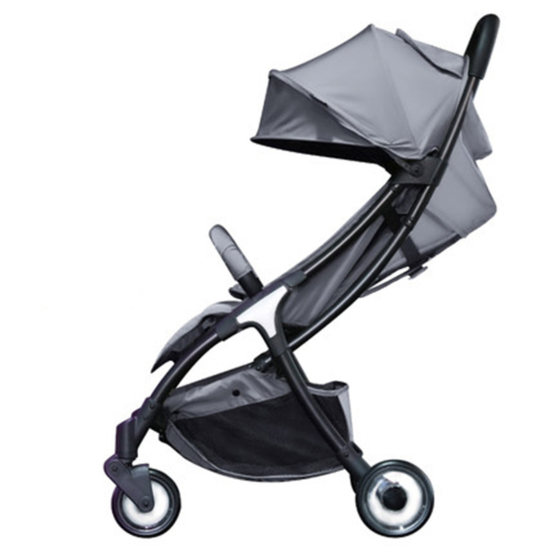 все цены на Baby lightweight strollers 2 in 1 aluminum alloy can be on the plane folding baby buggy онлайн