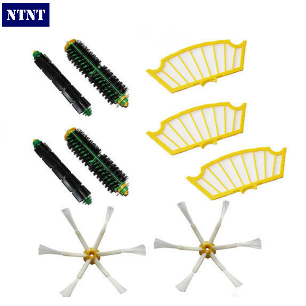 NTNT Free Post New Brush Filters 6 Armed kit for iRobot Roomba 500 Series 530 550 560 580 510 570 ntnt free post new 2 x flexible beater brush for irobot roomba 500 series 550 560 570 580 510 530