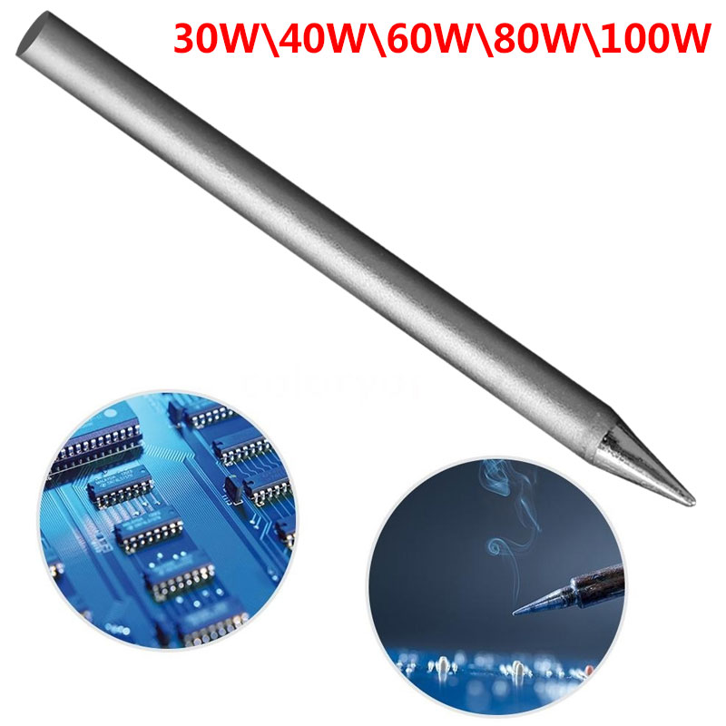 1PCS 30W 40W 60W 80W 100W Lead-free Soldering Tip Replacement Soldering Iron Tip Head Welding Accessories