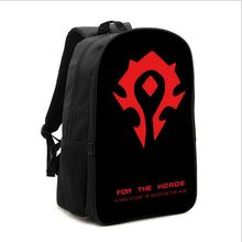 New Design World of Warcraft Bag WOW Printing Backpack for Teenagers Travelling Rucksack Schoolbag Game Player Favorite Gift