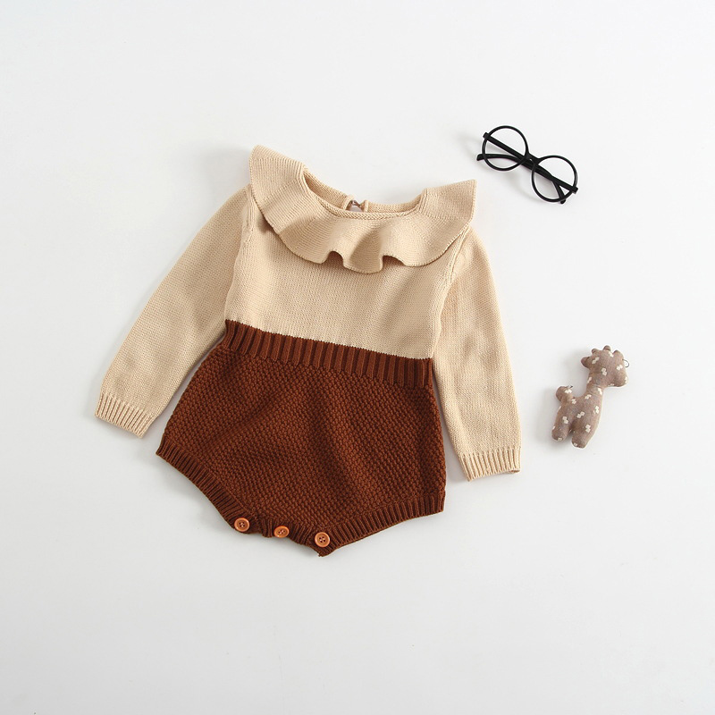 2018 Spring Autumn Cute Princess Baby   Romper   Newborn Baby Clothes Toddler Girls Long Sleeve Jumpsuit Baby Infant Knitted   Rompers