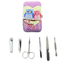 6Pcs/Set 2 Kinds Owl Best French Professional Pedicure And Manicure Tools For Lovers Sweetheart Gift