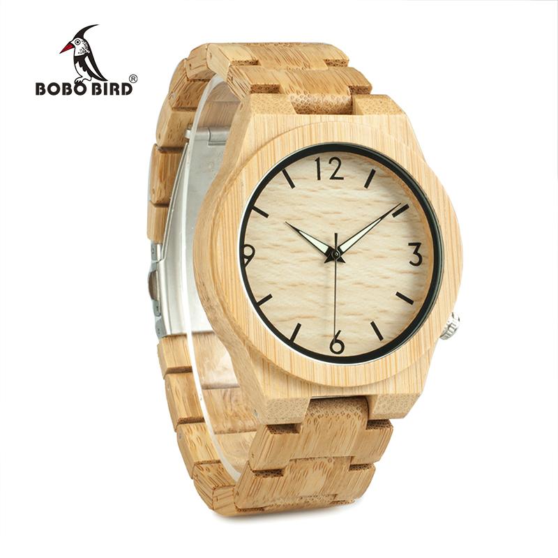 relogio masculino BOBO BIRD Wood Watch Men Top Brand Luxury Wooden Timepieces Great Men's Gift Drop Shipping W-D27 10