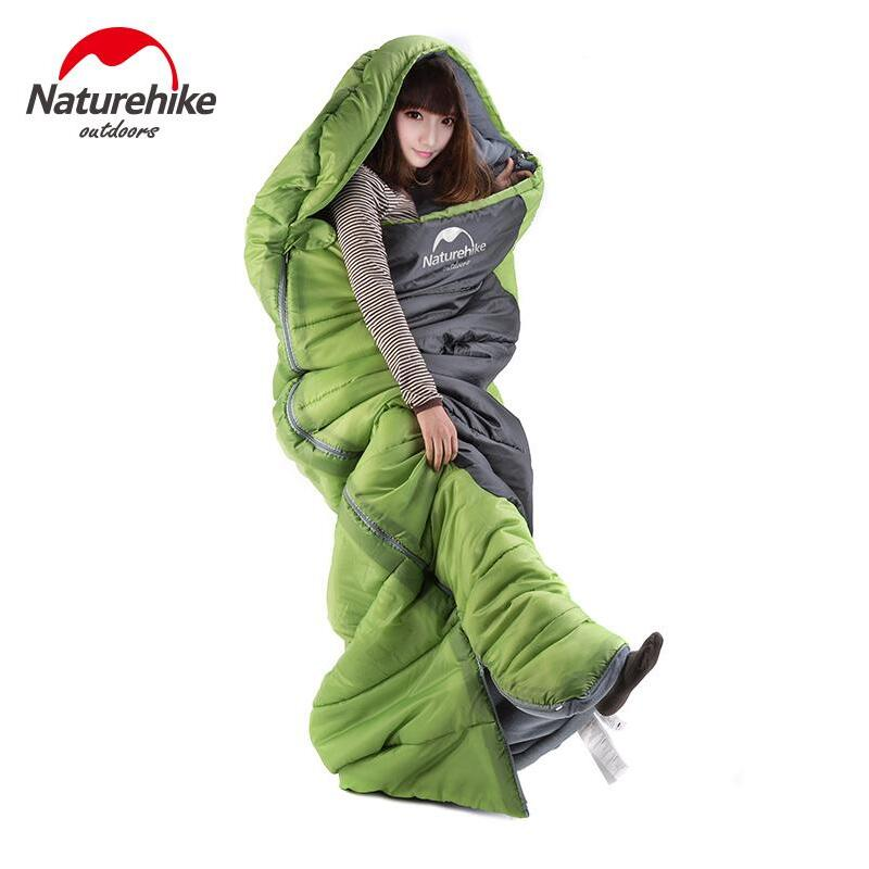 ФОТО Naturehike sleeping bag outdoor camping type envelope Winter warmth can be spliced double sleeping bag Tourism equipment