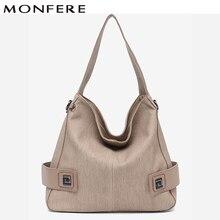 9d26368714 MONFERE Casual Large Hobo for Women High Quality Vegan Leather Handbags  Female Shoulder Bag Ladies Fashion