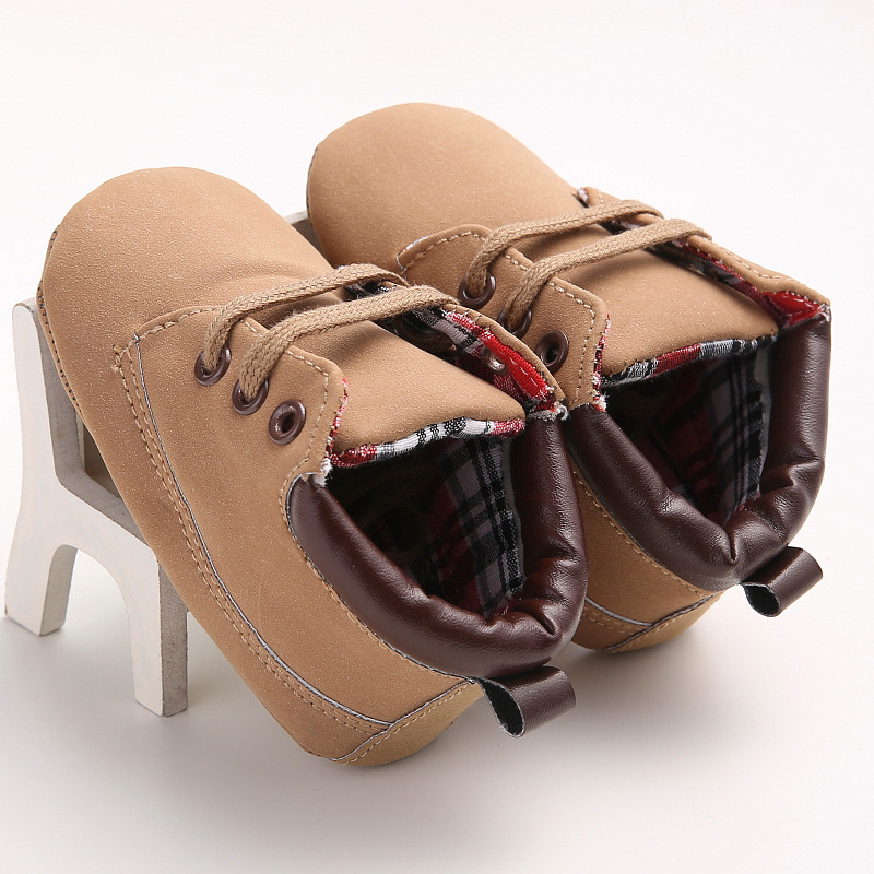 2016 Camel baby Toddler shoes PU Leather Soft Soles Kids Shoes Baby Boy Shoes Indoor Lace-up Buckle Baby First Walkers TSP303