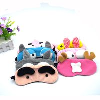 Cute Cartoon Animals Sleeping Eye Mask Plush Animals Travel Sleeping Blindfold Cute Eyepatch Travel Accessories Free Shipping Bag Parts & Accessories
