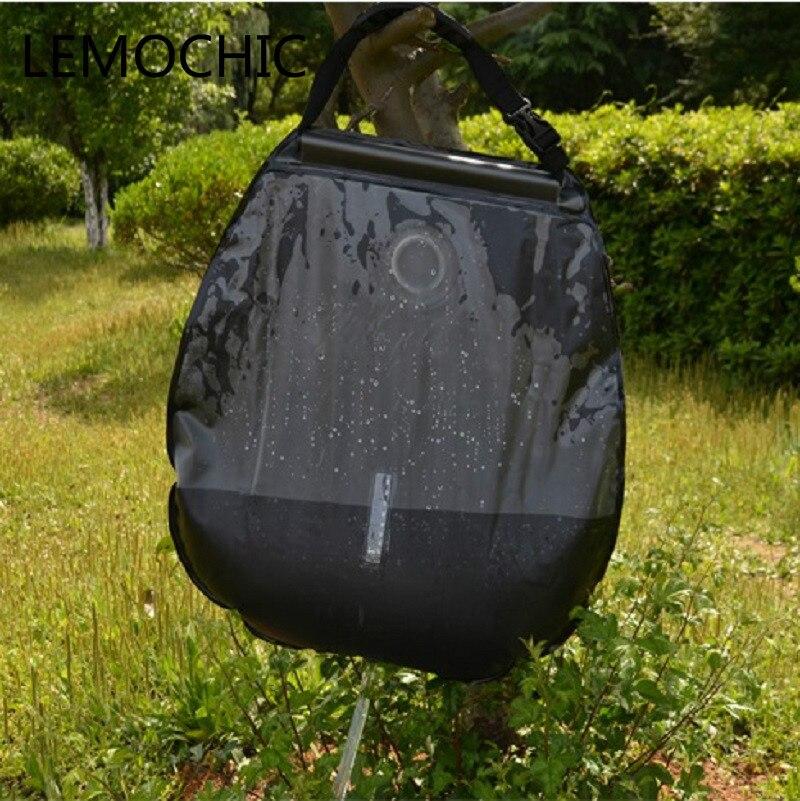20l outdoor camping wandern fahr tour selbst solarheizung mit thermometer hochwertigen klapp dusche warmwasser tasche in hot 20l outdoor camping wandern - Outdoor Dusche Warmwasser