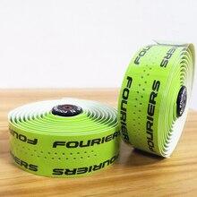 1 セット 9 色、オプションの pu Fouriers 自転車ドロップハンドルバーテープラップ穴バイクベルト固定ギア道路バイクハンドルバー
