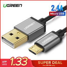 Ugreen Micro USB Cable 2 4A Fast Charging Data Cable for Xiaomi Redmi Note Huawei HTC