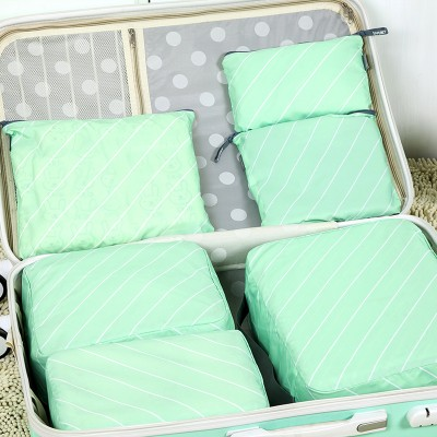 6pcs Fashion Twill waterproof travel clothing bag storage bag free shipping in Storage Bags from Home Garden