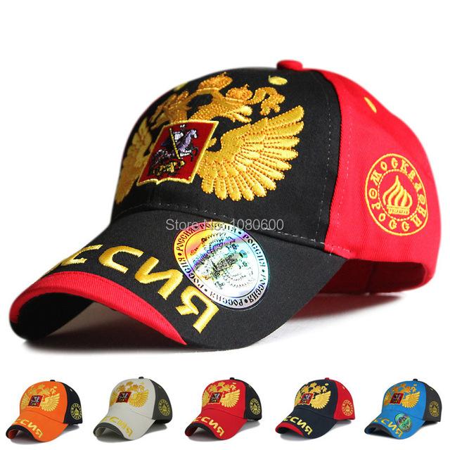Nova chegada estilo russo homens mulheres ouro eagle wing padrão bonés de beisebol