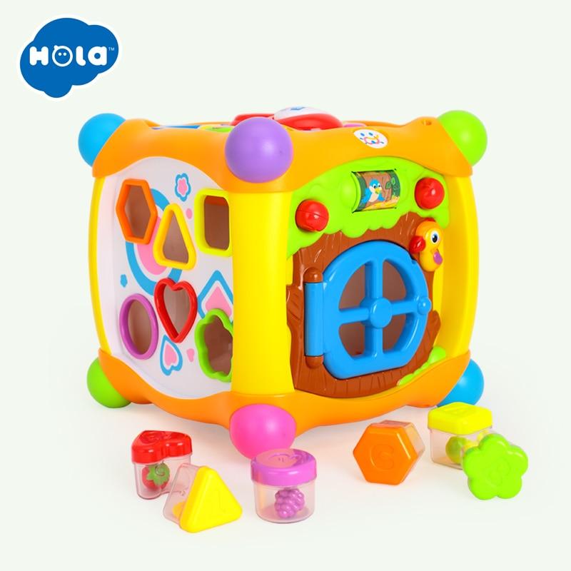 HUILE jouets 936 enfants activité Alphabet Cube bébé jouer jouet 13 blocs empilables apprentissage bébé enfant en bas âge musique jeu jouets cadeaux - 3