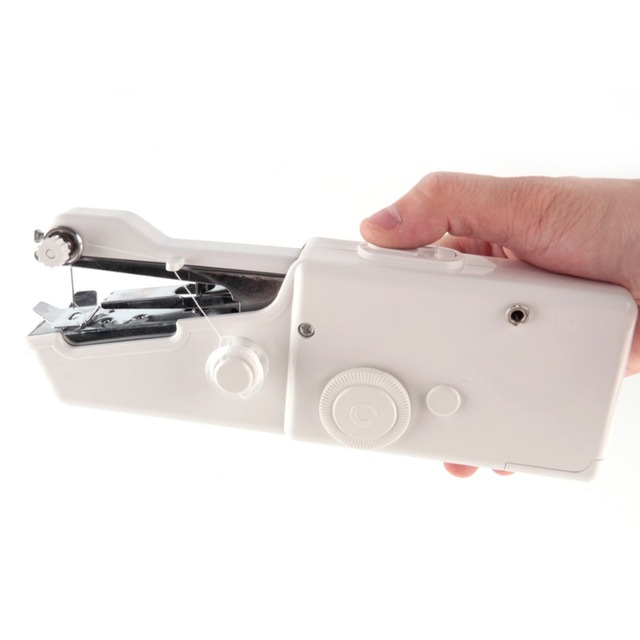 Tissu vêtements pour poche Mini ménage portable hand held machine à coudre manuel accueil couture accessoires fournitures outils