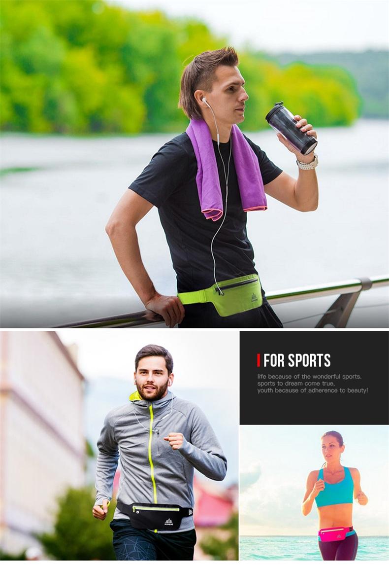 AONIJIE Runnning Waist Bag Men Women Sport Waist Pack Jogging Gym Fitness Running Belt Bag Phone Holder Sport Accessories 8