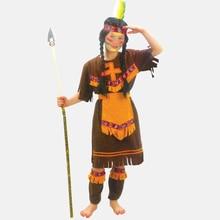 Nuevo envío libre fiesta de disfraces de halloween dress costume disfraces little indian ropa de niño vestido(China (Mainland))