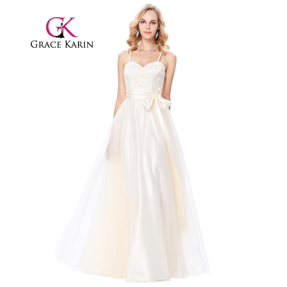Grace Karin Spaghetti Straps Evening Dress 2018 Cross Back ...