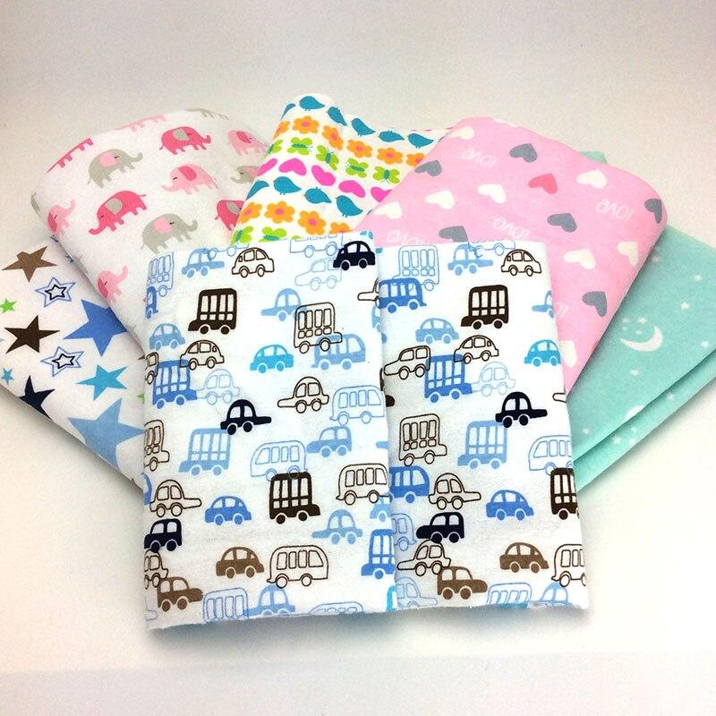 100x76 cm impressão dos desenhos animados algodão flanela lençóis de cama do bebê conjunto de cama do bebê infantil berço folhas meninos meninas