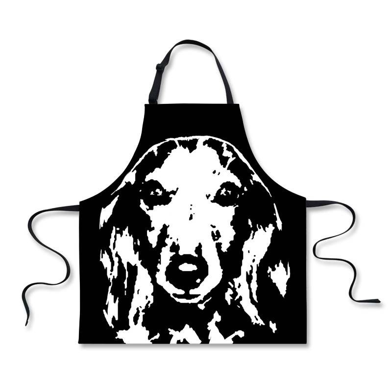 Forudesigns Dachshund A Children Bibs Home Cooking Sleeveless Baking Cleaning Beagle Kitchen As Accessories