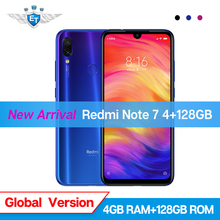 Küresel Sürüm Xiaomi Redmi Not 7 4 GB 128 GB Note7 Snapdragon 660 48MP Çift Kamera 6.3 ''Tam Ekran cep Telefonu 4000 mAh CE FCC