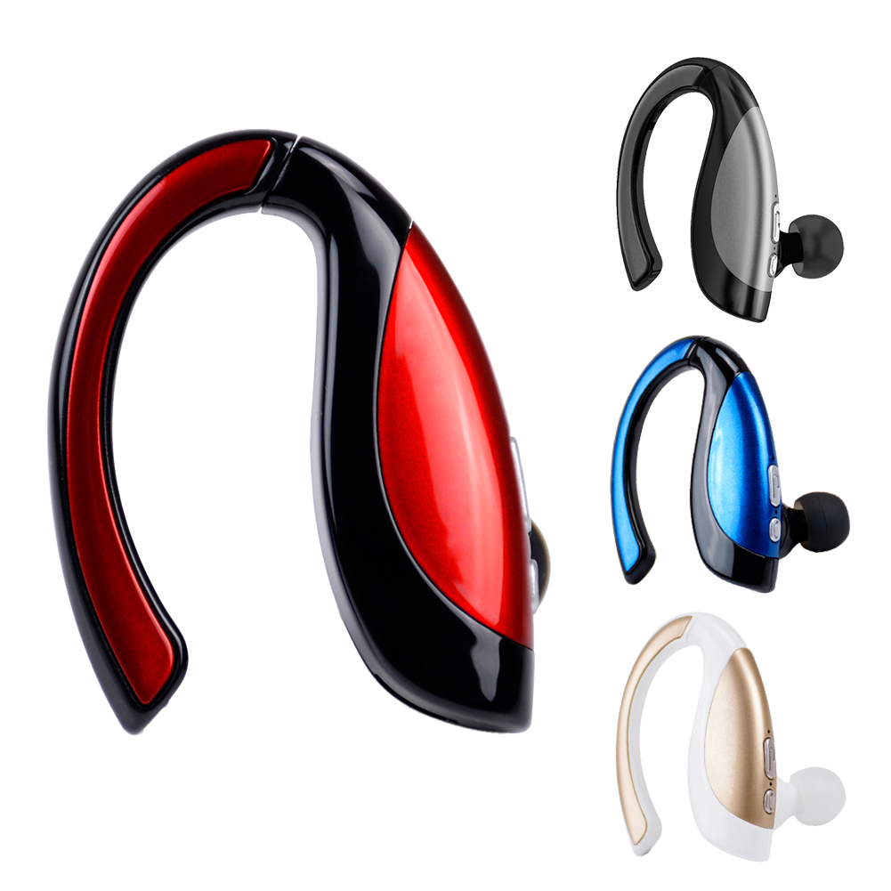 Single Bluetooth Wireless Headset Earphone Ear Hook Stereo Portable Handsfree Auriculares Bluetooth Headphone Earpiece with Mic portable stereo in ear wireless bluetooth game black headset headphones earphone handsfree with mic for ps3 smartphone tablet