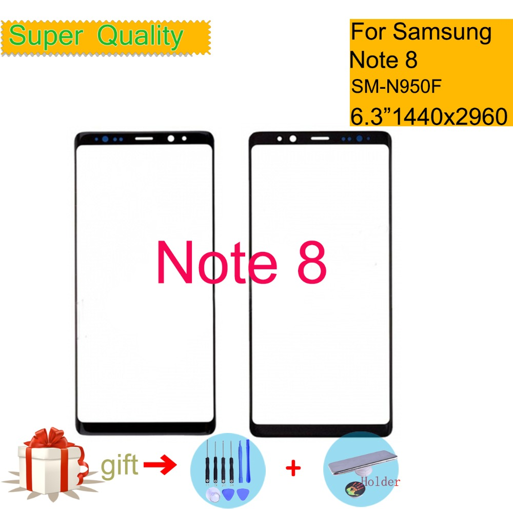 """6.3"""" For Samsung Galaxy Note 8 NOTE8 N9500 N9500F N950F SM-N950F Touch Screen Front LCD Glass Panel Outer Glass Lens Replacement"""