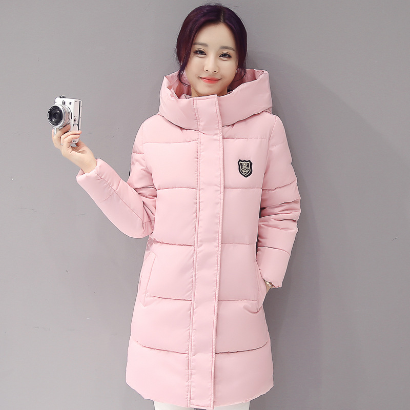 New Winter Jacket Women Hooded Thicken Coat Female fashion Warm Outwear Down Cotton-Padded Long Wadded Jacket Coat   Parkas