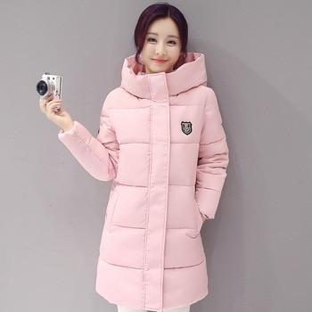 d6f1ded5ed7e0 Yeni Kış Ceket Kadınlar Kapşonlu Kalınlaşmak Coat Kadın moda Sıcak Dış  Giyim Aşağı Pamuk-yastıklı Uzun Wadded Ceket Kaban Parkas